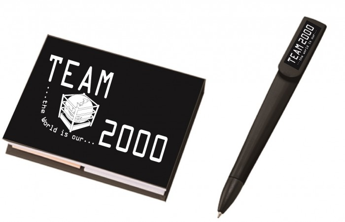 TEAM2000 付箋付きメモ帳&ボールペンセット
